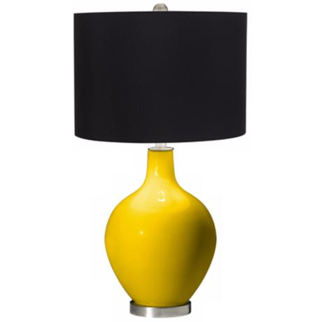 Citrus Black Shade Ovo Table Lamp