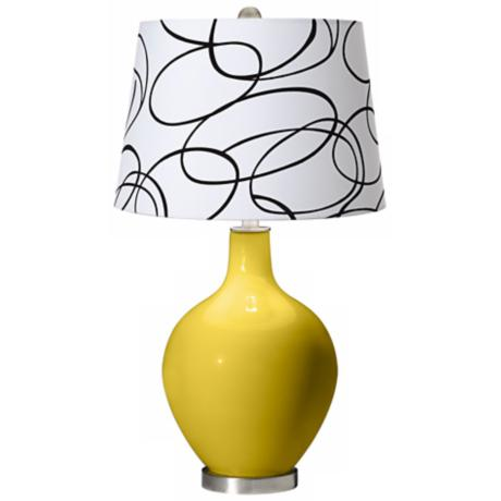 Nugget Squiggle Shade Ovo Table Lamp