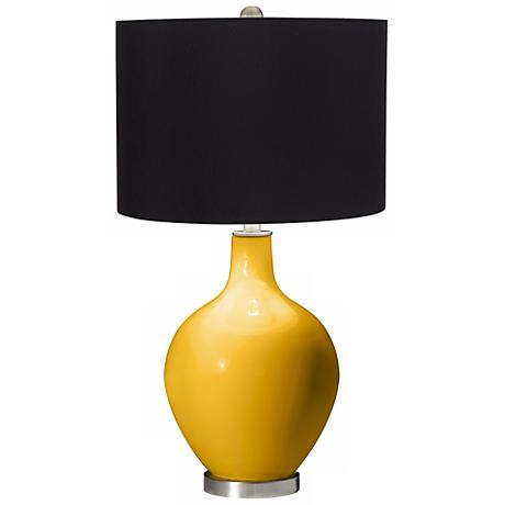 Goldenrod Black Shade Ovo Table Lamp