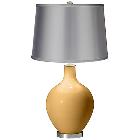 Harvest Gold - Satin Light Gray Shade Ovo Table Lamp