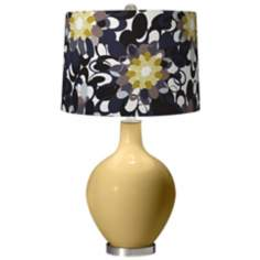 Humble Gold Black and Olive Ovo Table Lamp