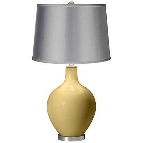 Humble Gold - Satin Light Gray Shade Ovo Table Lamp