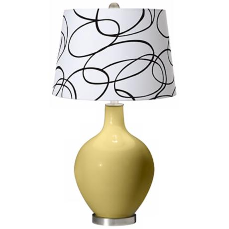 Butter Up Squiggle Shade Ovo Table Lamp
