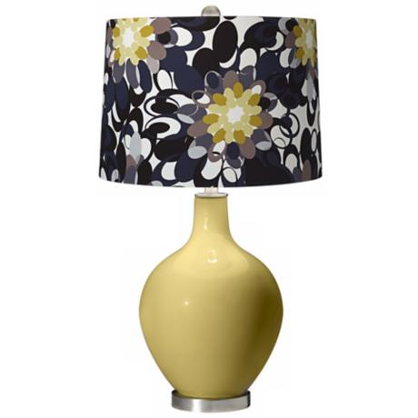 Butter Up Black and Olive Ovo Table Lamp