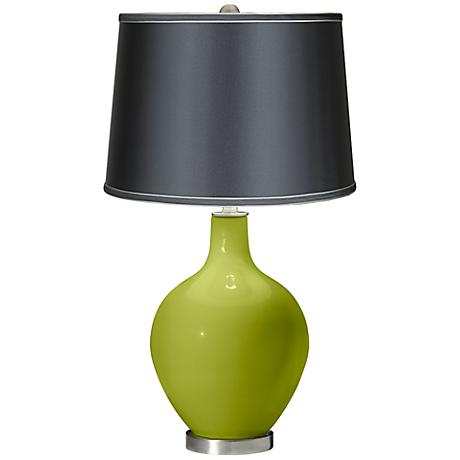Parakeet - Satin Dark Gray Shade Ovo Table Lamp