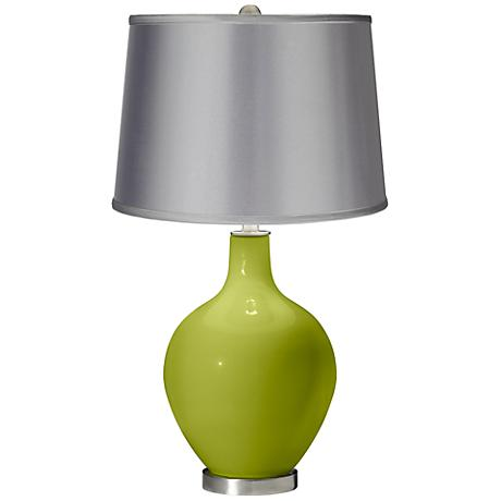 Parakeet - Satin Light Gray Shade Ovo Table Lamp