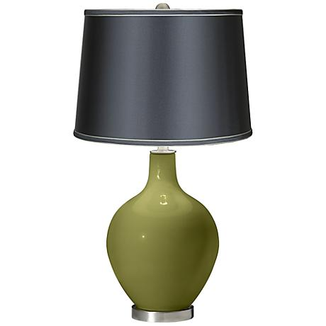 Rural Green - Satin Dark Gray Shade Ovo Table Lamp