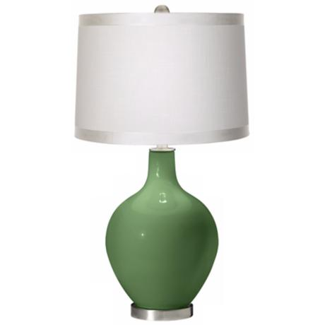 Garden Grove White Drum Shade Ovo Table Lamp