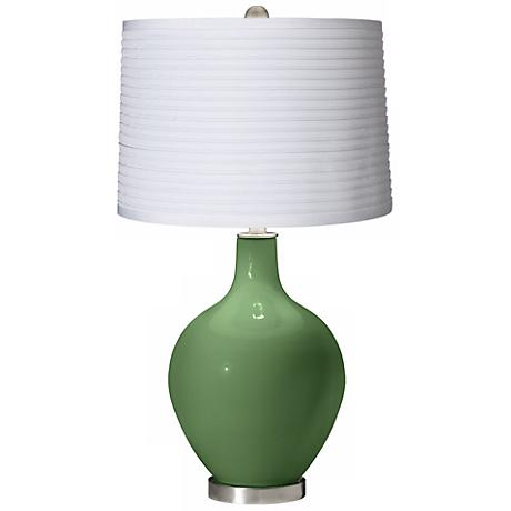Garden Grove White Pleated Shade Ovo Table Lamp