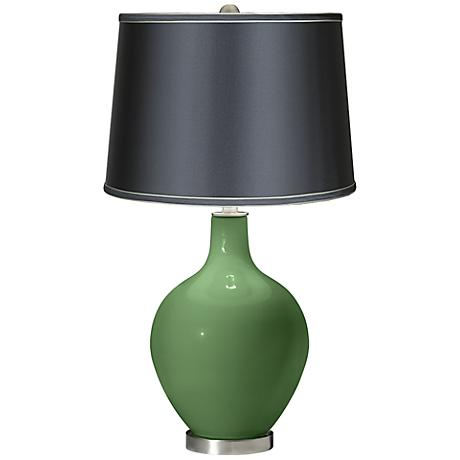 Garden Grove - Satin Dark Gray Shade Ovo Table Lamp