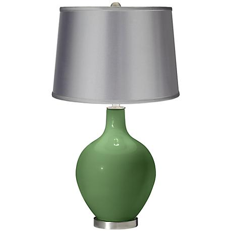 Garden Grove - Satin Light Gray Shade Ovo Table Lamp