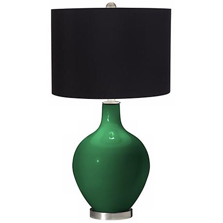 Greens Black Shade Ovo Table Lamp