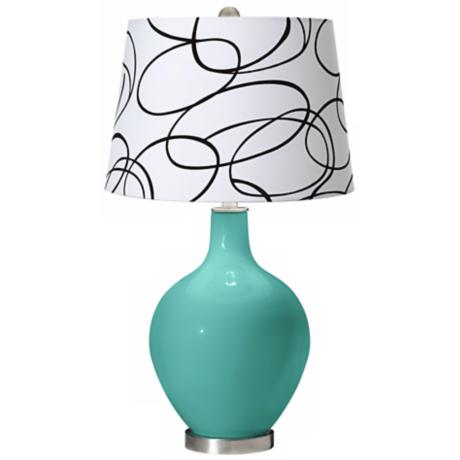 Synergy Squiggle Shade Ovo Table Lamp