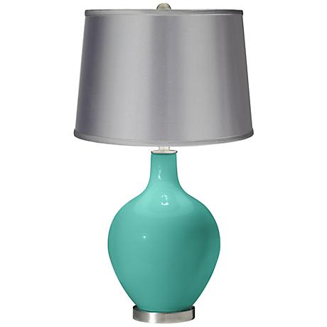 Synergy - Satin Light Gray Shade Ovo Table Lamp