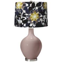 Dressy Rose Black and Olive Ovo Table Lamp