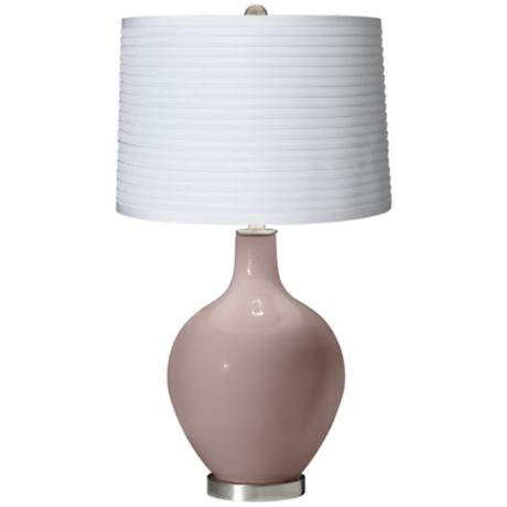 Dressy Rose White Pleated Shade Ovo Table Lamp