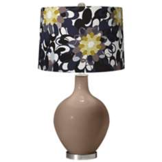 Mocha Black and Olive Ovo Table Lamp