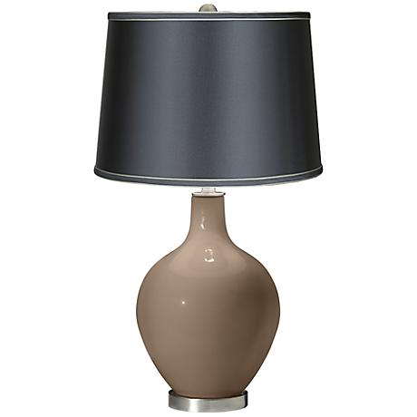 Mocha - Satin Dark Gray Shade Ovo Table Lamp