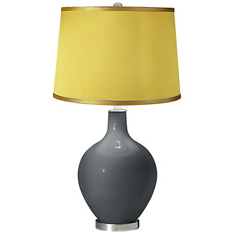 Black of Night - Satin Yellow Shade Ovo Table Lamp