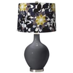 Black of Night Black and Olive Ovo Table Lamp