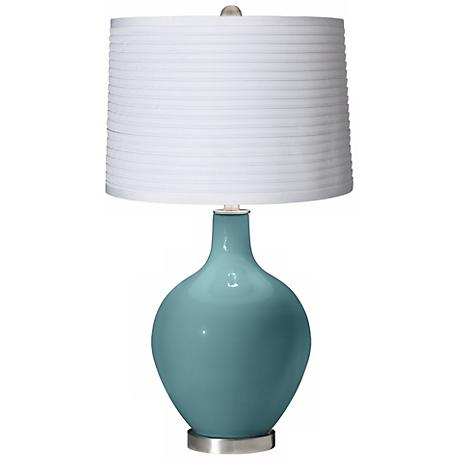Reflecting Pool White Pleated Shade Ovo Table Lamp