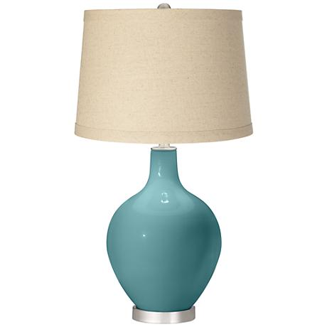 Reflecting Pool Oatmeal Linen Shade Ovo Table Lamp