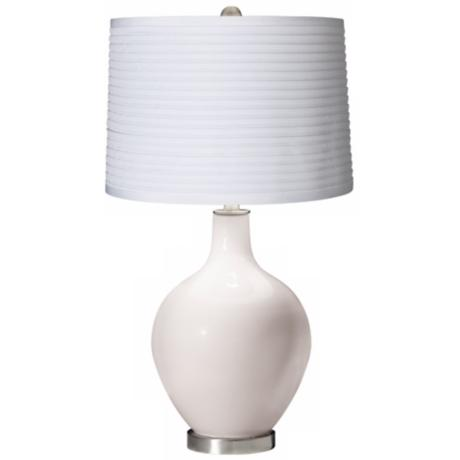 Smart White White Pleated Shade Ovo Table Lamp