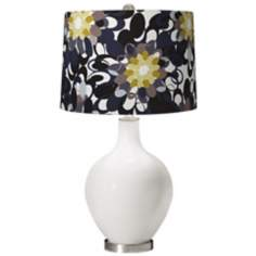 Winter White Black and Olive Ovo Table Lamp