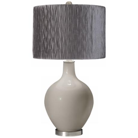 Requisite Gray Morell Silver Pleat Shade Ovo Table Lamp
