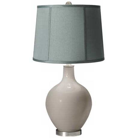 Requisite Gray Spa Blue Shade Ovo Table Lamp