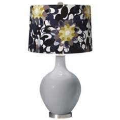 Uncertain Gray Black and Olive Ovo Table Lamp