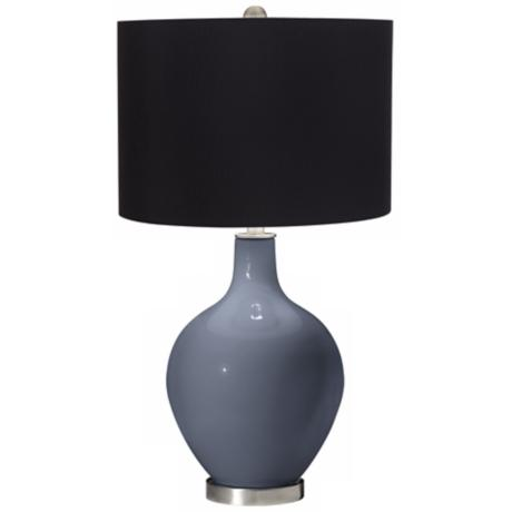 Granite Peak Black Shade Ovo Table Lamp