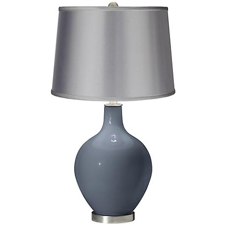 Granite Peak - Satin Light Gray Shade Ovo Table Lamp