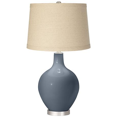 Granite Peak Oatmeal Linen Shade Ovo Table Lamp