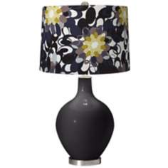 Tricorn Black Black and Olive Ovo Table Lamp
