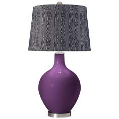 Kimono Violet Wood Print Shade Ovo Table Lamp
