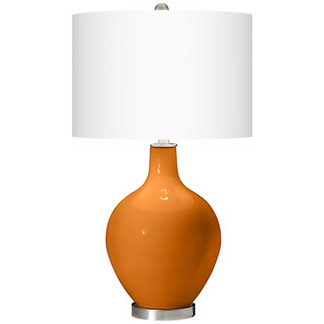 Cinnamon Spice Ovo Table Lamp