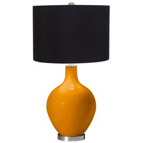 Mango Black Shade Ovo Table Lamp