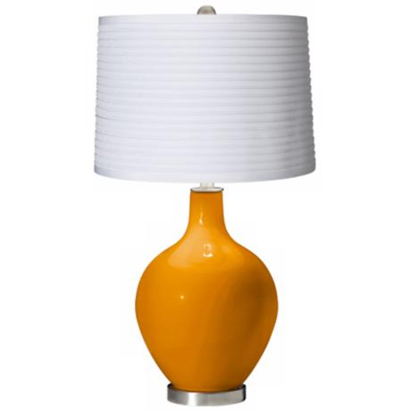 Mango White Pleated Shade Ovo Table Lamp