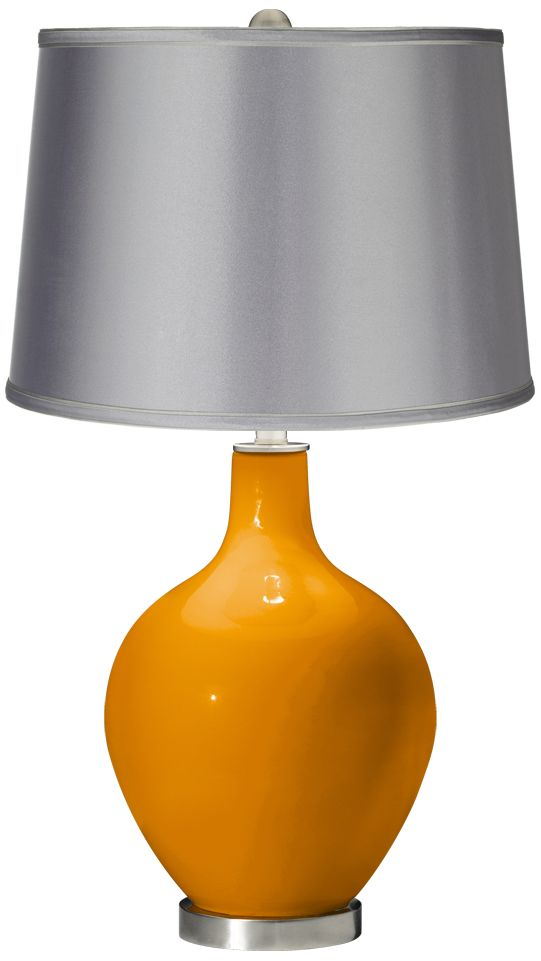 Blow by Studio Italia Online Cheap Mango – Satin Light Gray Shade Ovo Table Lamp