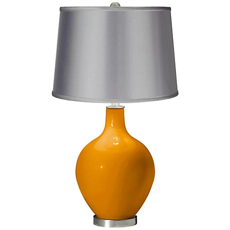Mango - Satin Light Gray Shade Ovo Table Lamp