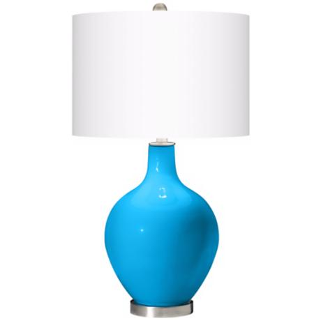 Sky Blue Ovo Table Lamp