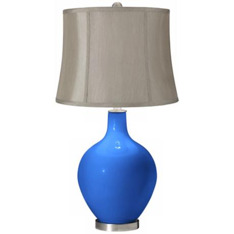Royal Blue Gray Shade Ovo Table Lamp