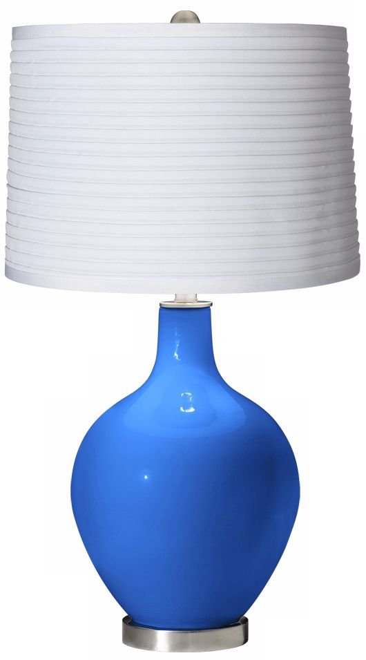 Buy Jeeves Pendant Light by Jake Phipps Cheap Royal Blue White Pleated Shade Ovo Table Lamp