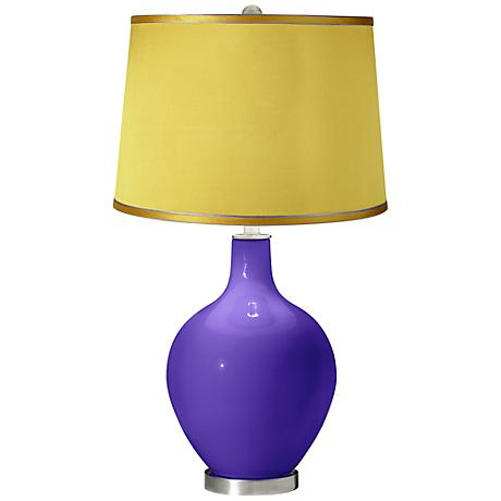 Violet - Satin Yellow Shade Ovo Table Lamp