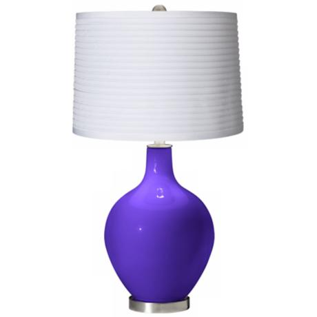 Violet White Pleated Shade Ovo Table Lamp