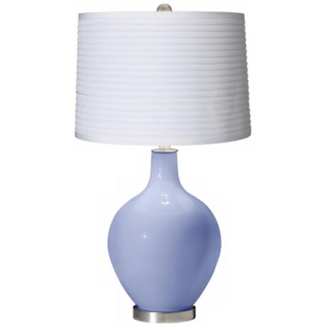 Lilac White Pleated Shade Ovo Table Lamp