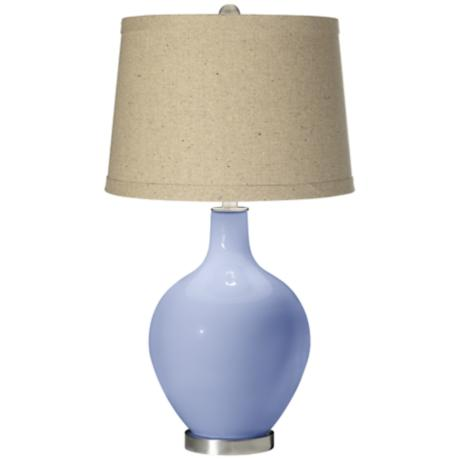 Lilac Oatmeal Linen Shade Ovo Table Lamp