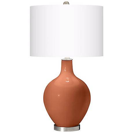 Fawn Brown Ovo Table Lamp