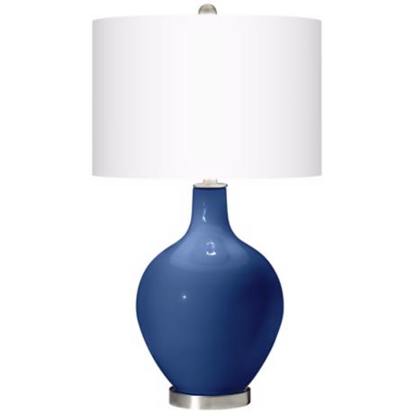 Monaco Blue Ovo Table Lamp